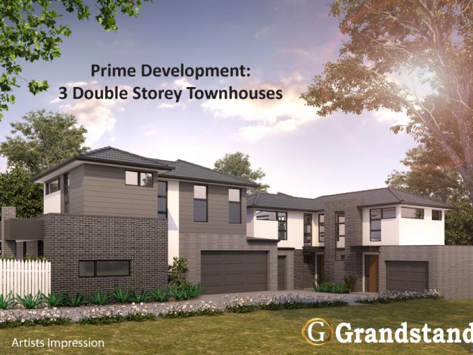 Prime Development Opportunity: Build 3 double-storey townhouses!